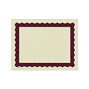 Great Papers Metallic 8.5 x 11 Certificates, Beige/Red, 100/Pack (934100)