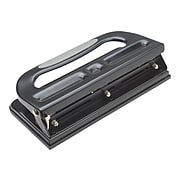 Staples Circle 3-Hole Punch, 30 Sheet Capacity, Black (24549/33989)