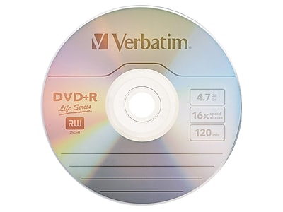 Verbatim Life Series (97175) 16x DVD+R, Gray, 100/Pack