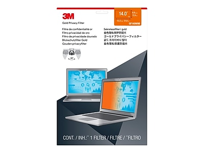 3M Gold Privacy Filter for Laptops, 14