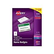 Avery ID Badge Holders, Clear, 100/Box (74549)