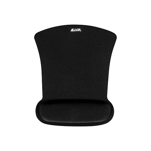 Allsop Ergoprene Gel Mouse Pad/Wrist Rest Combo, Black (30191)
