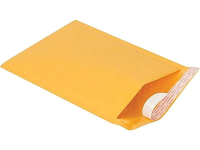 "5""W x 10""L Peel & Seal Bubble Mailer, #0, 25/Carton (51574-CC)"
