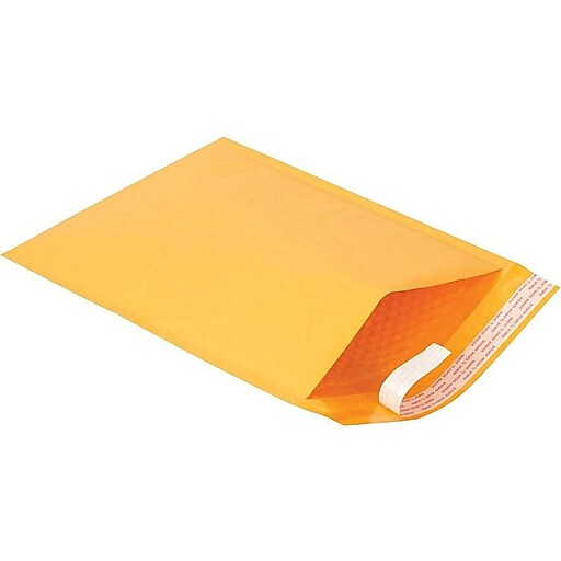 "8.5""W x 11.5""L Peel & Seal Bubble Mailer, #2, 100/Carton (28984)"