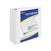 "Avery TouchGuard Durable 4"" 3-Ring View Binder, White (17145)"