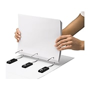 """IdeaStream Snap-N-Store Heavy Duty 4"""" 3-Ring View Binder, White (SNS01703)"""