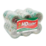 "Duck HD Clear, Acrylic Packing Tape, 1.88"" x 54.6 Yds., Clear, 24/Carton (393730)"
