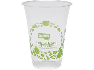 Sustainable Earth by Staples Cold Cups, 16 Oz., Translucent, 300/Case (SEB40146-CC)