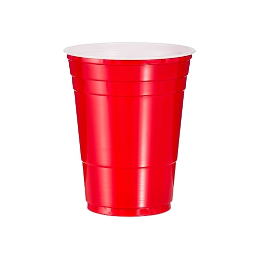 Solo Cold Cups, 16 oz , Red, 50/Pack (P16R)
