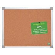 Bi-Office Earth-It Cork Bulletin Board, Aluminum Frame, 3' x 2' (CA031790)