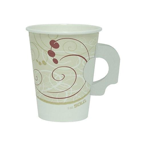 Solo Symphony Hot Cups, 8 oz , Multicolor, 50/Pack (378HSM-J8000)