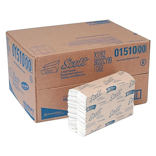 Scott C Fold Paper Towels with Fast-Drying Absorbency Pockets 12 Packs Case  200 Towels Pack (01510)  6e0b31eb162