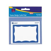 Avery Sticker Name Tags/Labels, White with Blue Border, 40/Pack (45144)