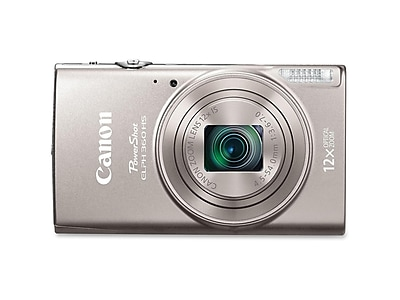 Canon PowerShot ELPH 360 HS 20.2 Megapixels Point & Shoot Camera, 12x Zoom, Silver