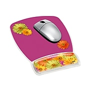 """3M™ Precise™ Mouse Pad with Gel Wrist, Optical Mouse Performance, Soothing Gel Comfort, 6.8"""" x 8.6"""", Daisy Design (MW308DS)"""