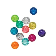 """Staples 1.15"""" Sphere Magnets, Assorted Translucent Colors, 12/Pack (21594)"""