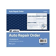 "Adams 3-Part Carbonless Auto Repairs Book, 8.5""L x 7.44""W, 50 Forms/Book, Each (GT3870)"