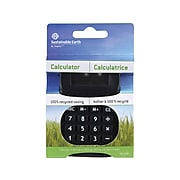 Sustainable Earth by Staples SE-110E 8-Digit Pocket ECO Calculator, Black