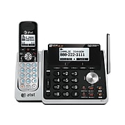 AT&T TL88102 2-Line Cordless Phone, Gray/Black