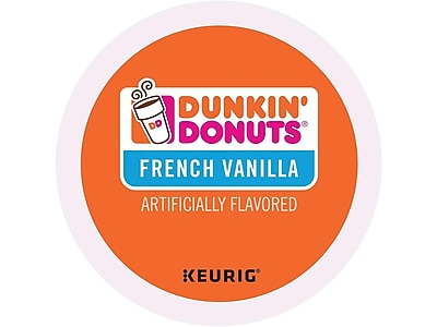 Dunkin' Donuts French Vanilla Coffee, Keurig® K-Cup® Pods, Medium Roast, 96/Carton (400847)