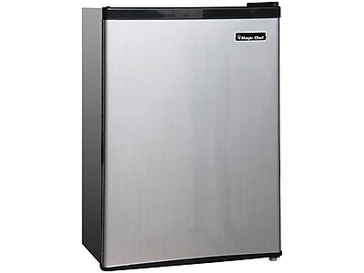 Magic Chef 2.4 Cu. Ft. Refrigerator, Stainless Steel (MCBR240S1)