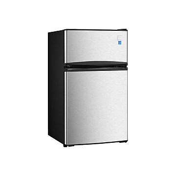 Avanti 3.1 Cu. Ft. Refrigerator w/Freezer, Black/Stainless Steel (RA31B3S),Size: small