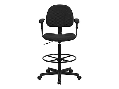 Merveilleux Flash Furniture Fabric And Fire Retardant Foam Drafting Chair, Patterned  Black (BT 659 BLK ARMS GG)