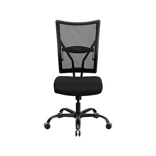 Flash Furniture HERCULES Mesh Back Fabric Executive Big & Tall Chair, Black (WL-5029SYG-GG)