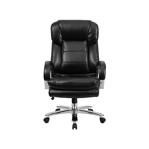 Flash Furniture HERCULES LeatherSoft Executive Big & Tall Chair, Black (GO-2078-LEA-GG)