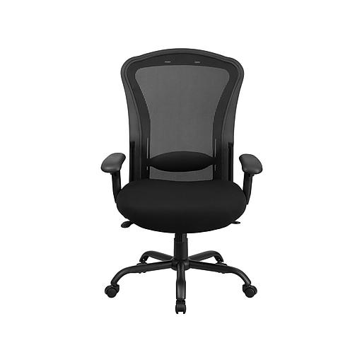 Flash Furniture HERCULES Mesh Back Fabric Computer & Desk Big & Tall Chair, Black (LQ-3-BK-GG)