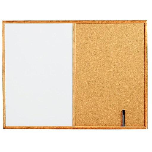 Staples Standard Cork & Dry Erase Whiteboard, 4' x 3' (28324-CC)