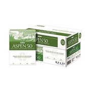 "Boise ASPEN 50% Recycled 8.5"" x 11"" Copy Paper, 20 lbs, 92 Brightness, 5000/Carton (055011)"
