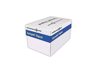 """Springhill Vellum Bristol Cover Paper, 67 lbs, 8.5"""" x 14"""", White, 2000/Carton (016002)"""