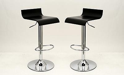 Manhattan Comfort Practical Ludlow Barstool, Black, Set of 2 (MC-643)