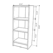Manhattan Comfort Greenwich  3- Shelf Narrow Tall 1.0  Bookcase  40.94 inches H. in Maple Cream  (160452)