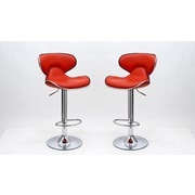 Manhattan Comfort Classy Pablo Barstool, Red, Set of 2 (MC-642)