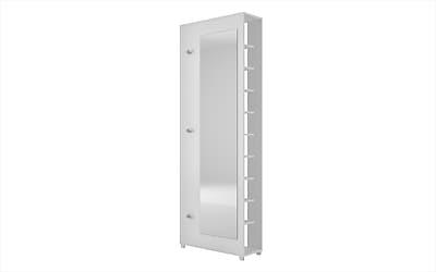 Accentuations by Manhattan Comfort Valencia 10-Shelf Shoe Closet, White (88AMC6)
