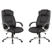 Manhattan Comfort MC-631- B  Presidential Washington Office Chair in Black - Set of 2