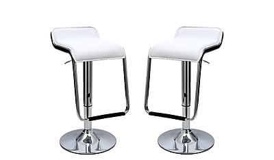 Manhattan Comfort Sophisticated Horatio Barstool, White, Set of 2 (MC-638)