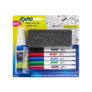 Expo Dry Erase Markers, Ultra Fine Tip, Assorted Ink, 5/Set (1884310)