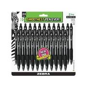 Zebra Z-Grip Retractable Ballpoint Pens, Medium Point, Black Ink, 24/Pack (12221)