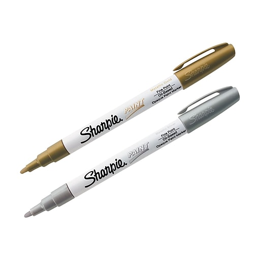 Sharpie Permanent Markers, Fine Point, Assorted, 2/Pack (30588)