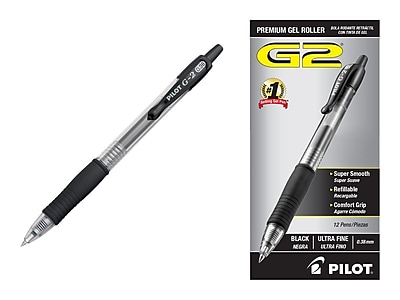 Ultra Fine Point PILOT G2 Premium Refillable /& Retractable Rolling Ball Gel Pens 2 Pack of 12 Black Ink, 31277