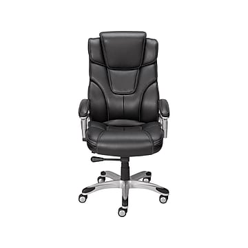 Staples Baird Bonded Leather Manager Chair, Black (23234)