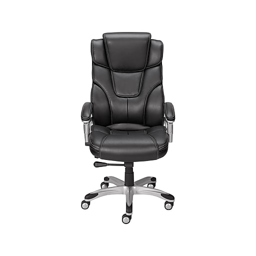 Bonded Leather Managers Chair Black