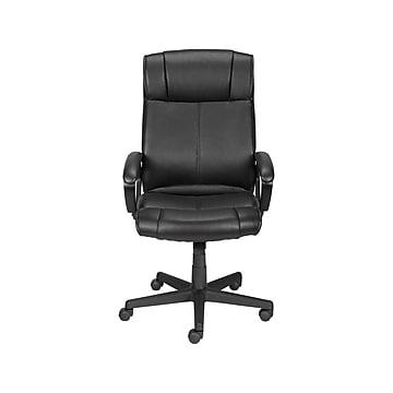 Staples Turcotte Luxura Faux Leather Computer and Desk Chair, Black (23094-CC)