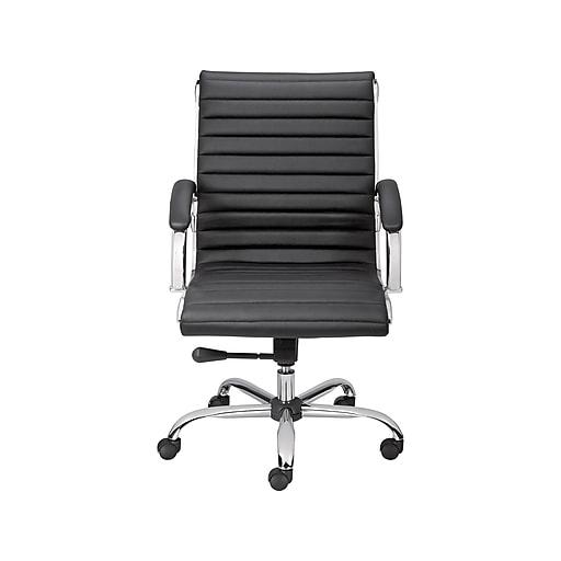 Staples Bresser Luxura Faux Leather Manager Chair Black 23096 Cc
