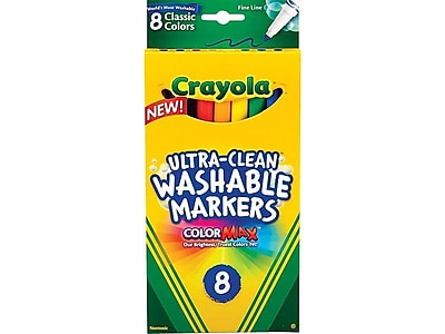 Crayola Classic Kid's Markers, Fine Point, Assorted, 8/Pack (58-7809)