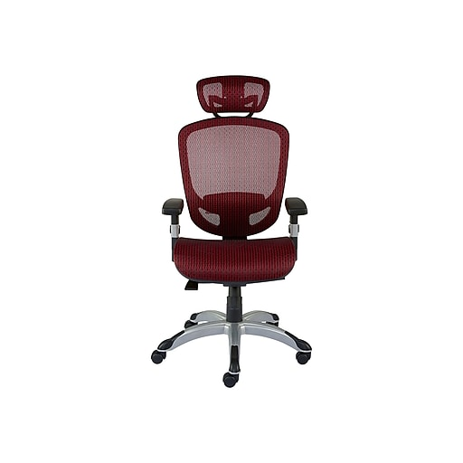 sports shoes b327f 551b3 Staples Hyken Mesh Computer and Desk Chair, Red (50218)