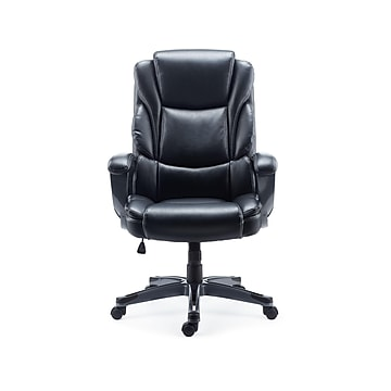 Staples Mcallum Bonded Leather Manager Chair, Black (51473)